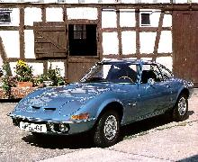 Opel GT 1900 Blue  Front View (1972)