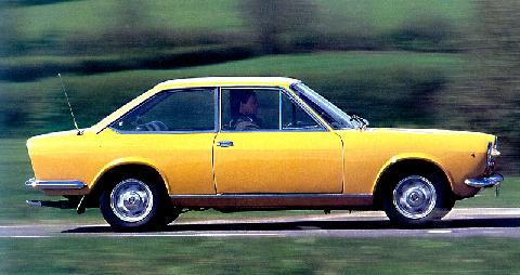 Fiat 124 Coupe Svr At Speed Yellow (1966)