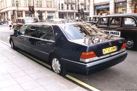 London1999 1996 jankel mercedes benz s500 limo rear for Mercedes benz s500 1996