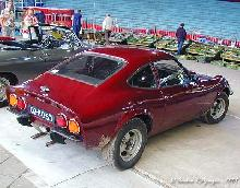 Opel GT 1971 Rear three quarter view