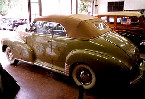 chevrolet fleetmaster convertible green rvl (1948) - picture