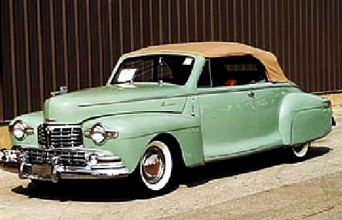 Lincoln Zephyr Convertible Green Tu (1948)