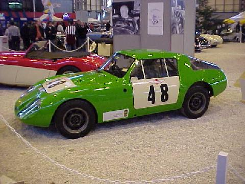 Austin Healey LeMans Sprite (green bodywork, side view)