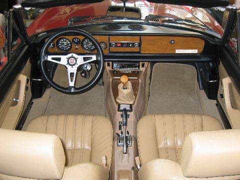Interior of 1982 FIAT Spider