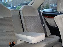 1989 Audi Coupe Quattro 20v, rear seats