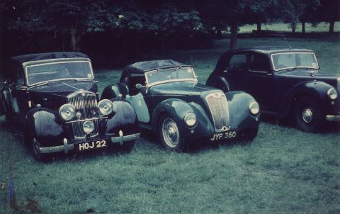 1947 14HP Sports owned by me in 1964/65. Sold in the Romney Marsh area of Kent in 1966 when I moved to Canada. Photo taken at '65 Annual Owner's Club Meet.