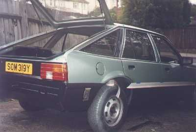 My brothers green Vauxhall Cavalier, also was in production  as Opel Ascona
