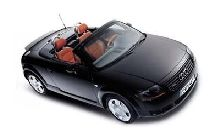 black audi TT Roadster 225HP with red seats