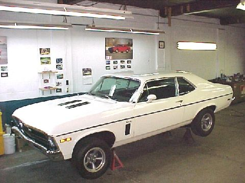 1970 Nova SS 350, 4 speed, 12 bolt posi, power disk brakes, white exterior, black interior, this car is for sale. For detailed pictures please email.
