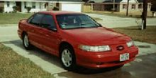 Not my car, just a picture I was using to envision some styling customization This is a 2nd generation SHO 92-95. Yamaha powerplant, SHO specific front fenders and bodywork. 220 hp in 1989 (first gene
