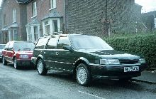 Montego GTI Estate, c. 1990, my first company car.  Useful workhorse with decent handling and a fair turn of speed, but little mechanical refinement.  The self-levelling suspension was a useful option