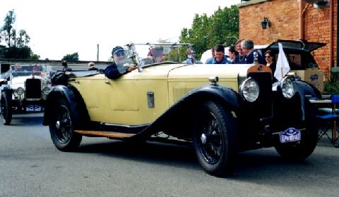 Delage DMS photographed in 2001 - still in original condition. This car lives in Melbourne, Australia.