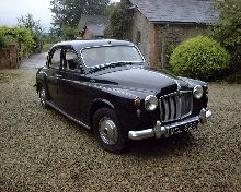 Rover 95 Saloon. Reg. No. VCL 825. First registered 28 06 1963. Current Owner: Mr James Koe.