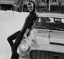 Lancia Flaminia sedan. Promoted by Brigitte Bardot
