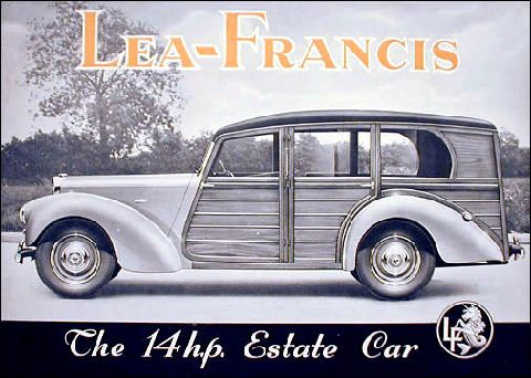 Original manufacturers advertising poster for the 14HP Estate
