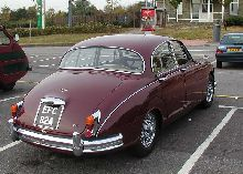 Jaguar 3.4 Mk2 seen at a Classics Rally in Bristol, England, on 12th October 2003.