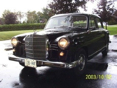 1960 190Db, with the wider, later grille than pre 1959 180 and 190 models. Car sits in my drive just outside Prescott Ontario Canada. I call him Fritz, after an old German family friend.