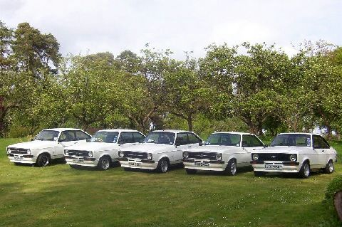 Group of Ford Escort RS Mexico, taken at the RSOC regional show in Cumbria 2003