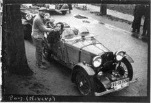 Countess Pamela Moy with her 1932 MG J3 Midget in the 1935 Paris-San Raphael Rally