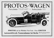 1908 Protos advertisement
