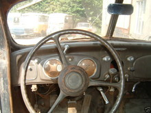 1934 Desoto Airflow steering wheel