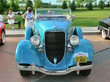 1934 Dodge Convertible Coupe with Rumble Seat Robin Egg Blue fv (WPC Cruise-In) CL