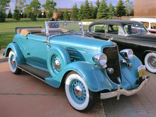 1934 Dodge Convertible Coupe with Rumble Seat Robin Egg Blue fvr (WPC Cruise-In) CL