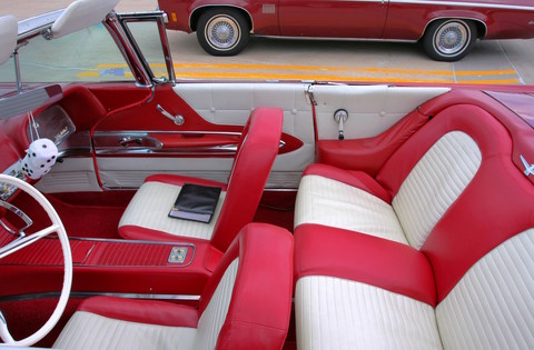 1959 Ford Thunderbird Red & White Interior sv Convertible Grenadier Red Poly (2006 WW@WD DCTC) CL