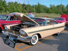1958 Plymouth Fury with 350 CID Golden Commando Engine Buckskin Beige fvl (WPC Cruise-In) CL