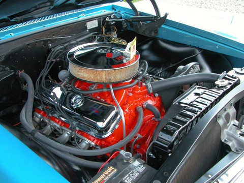 1966 Chevrolet Chevelle SS-396 Hardtop Modified 360 HP Engine&Tubing Headers fvr Marina Blue(2005 CEMA)DSCN5619