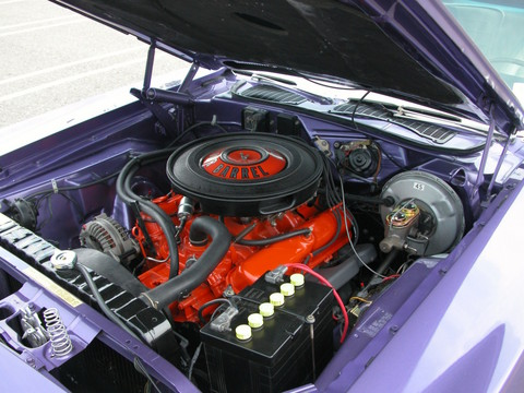 1970 Plymouth 340 'Cuda Convertible EngineIn Violet (2005 CEMA) DSCN6060