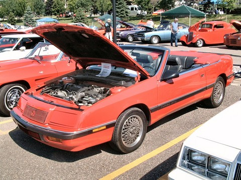 1989 Chrysler LeBaron Turbo GTC Convertible Red fvl (2004 CEMA) F