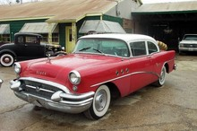 1955 Buick Special 2 Door Sedan-red&wht-fVl mx