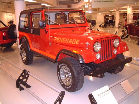1986 Jeep Cj 7 Renegade Red Fvr Garage Wpc Museum F