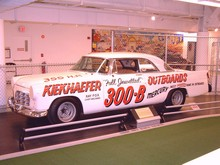 1956 Chrysler 300B NASCAR Race Car Cloud White svl Garage (WPC Museum) F