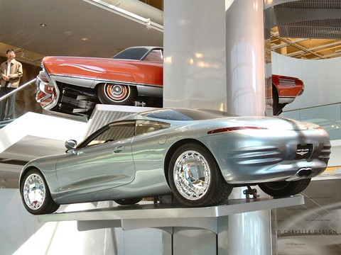 1993 Chrysler Thunderbolt Concept Car On Museum Vehicle Display