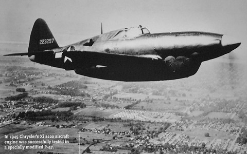 1945 Chrysler Xi 2220 Experimental Aircraft With V 16