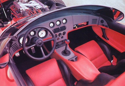 1989 Dodge Viper Rt 10 Concept Car Red Interior Picture