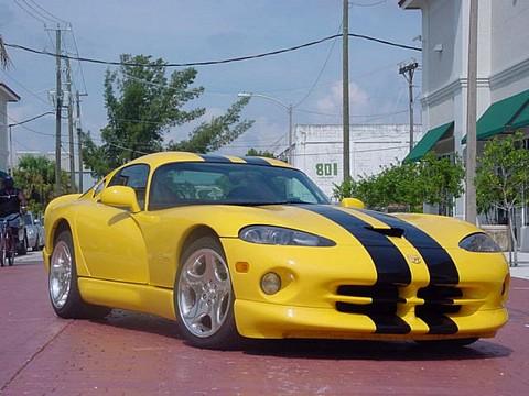 Dodge Viper Yellow 2001 dodge viper gts yellow