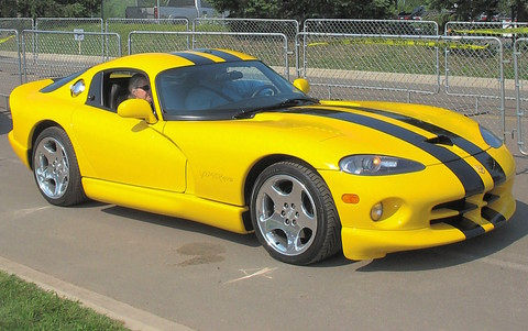 2002 Dodge Viper Gts Coupe Yellow With Black Stripes Fvr 1
