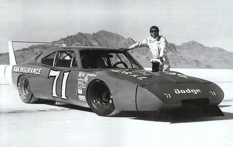 1969 Dodge Charger Daytona 426 Hemi-Powered Bonneville Salt Flats Speed Record, Driven by Bobby Isaac BW