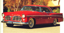 1956 Chrysler 300B f3q