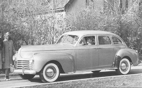 1941 Chrysler New Yorker Sedan f3q B&W
