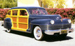 1942 Chrysler Windsor Town & Country Woody Station Wagon f3q
