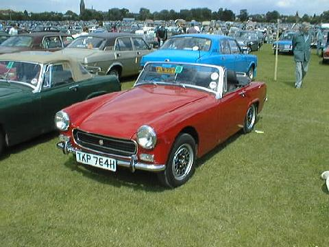 Austin Healey Sprite MkIV (red bodywork, front view)