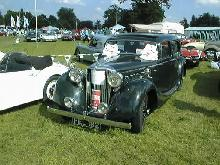 Jaguar 2.5 litre (black bodywork, front view)