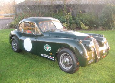 1956 JAGUAR XK140 RACING FIXED HEAD COUPE