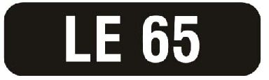 Number plate : LE 65