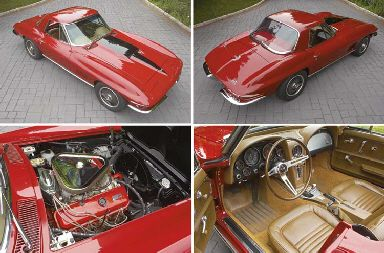 1967 CHEVROLET CORVETTE 427/435HP STINGRAY CONVERTIBLE WITH HARDTOP
