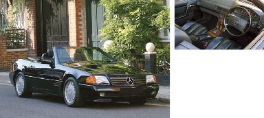1990 MERCEDES-BENZ 500SL CONVERTIBLE WITH HARD TOP